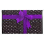 Purple Polka Dot Ribbon iPad Folio Cover