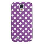 Purple Polka Dot Samsung Galaxy S4 Case