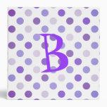 Purple Polka Dot School Binder