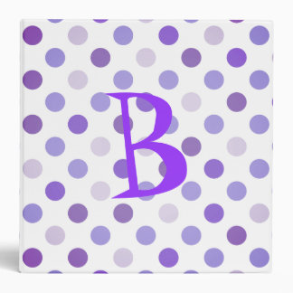Purple Polka Dot School Binder
