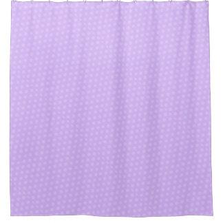 Purple Polka Dot Shower Curtain