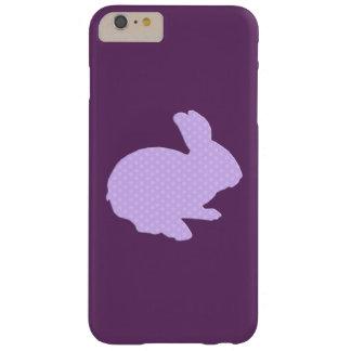 Purple Polka Dot Silhouette Bunny iPhone 6 Case