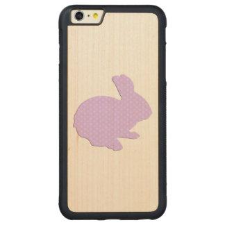 Purple Polka Dot Silhouette Rabbit iPhone 6 Case
