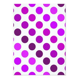 Purple Polka Dot Stripes Card