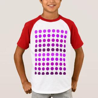 Purple Polka Dot Stripes T-Shirt