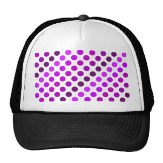 Purple Polka Dot Stripes Trucker Hat