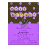 Purple Polka Dots Baby Shower Invitation