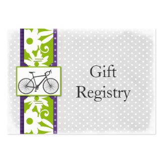 purple polka dots bicycle Gift Registry Cards