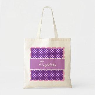 Purple Polka Dots Bride or Bridesmaid Gift V28 Tote Bag