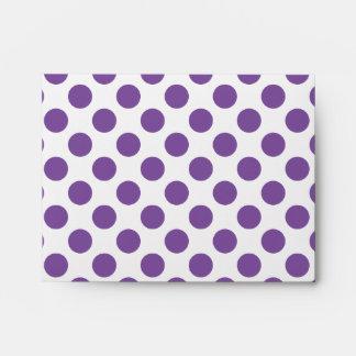 Purple Polka Dots Envelope