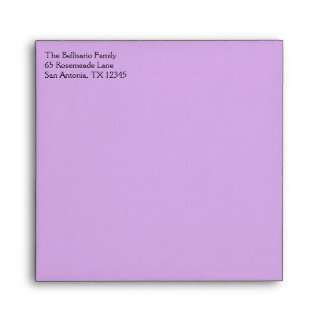 "Purple Polka Dots Envelope for 5.25"" Sq. Size"