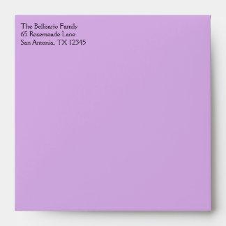 "Purple Polka Dots Envelope for 5.25"" Sq. Size"