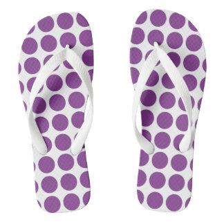 Purple Polka Dots Flip Flops