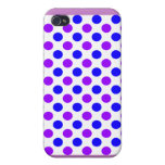 Purple Polka Dots - Girly iPhone Cases Covers For iPhone 4