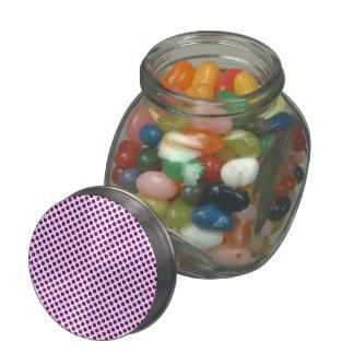 Purple Polka Dots Glass Candy Jar