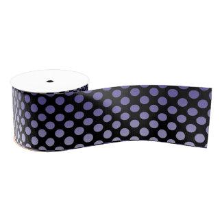 Purple Polka Dots on Black Blank Ribbon