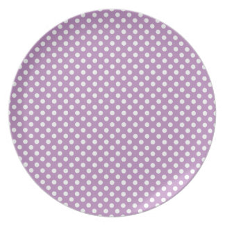 Purple Polka Dots Plate