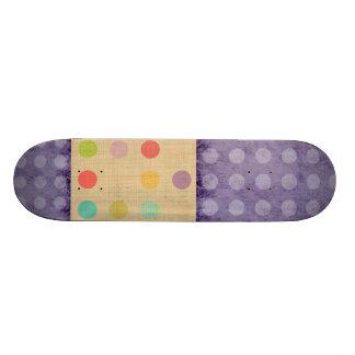 Purple Polka Dots Rupydetequila wood Deck Skate Bo
