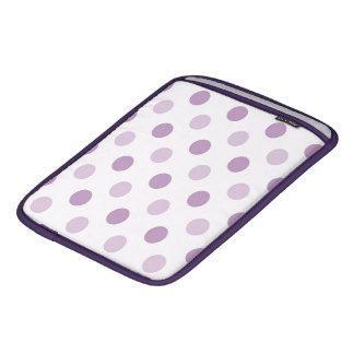 Purple Polka Dots Sleeve For iPads