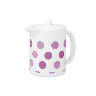 Purple Polka Dots Teapot