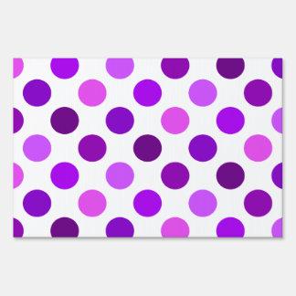 Purple Polka Dots Yard Sign