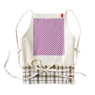 Purple Polka Dots Zazzle HEART Apron
