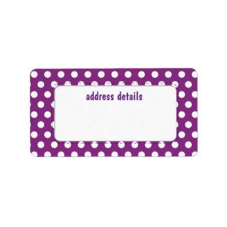 Purple Polkadot Label