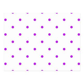 Purple Polkadots Small Postcard