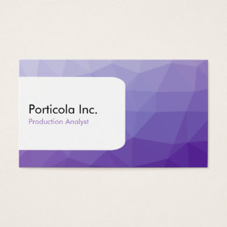 Purple Polygon Gradient Business Card