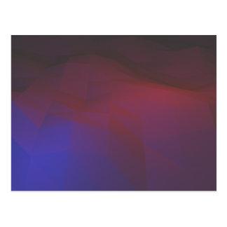Purple polygon Postcard