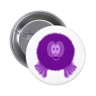 Purple Pom Pom Pal Button