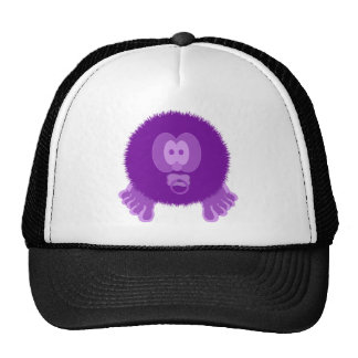 Purple Pom Pom Pal Hat