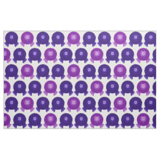 Purple Pom Pom Pals Fabric