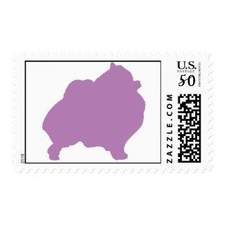Purple Pomeranian Postage