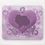 Purple Pomeranian Valentine Mouse Pad