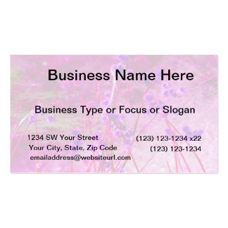 Purple pond plants background business card