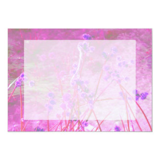 Purple pond plants background card