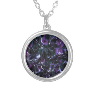 Purple Pond Silver Plated Necklace