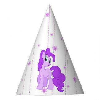Purple Pony Cute Girl's Birthday Hat