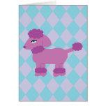 Purple Poodle Greeting Card