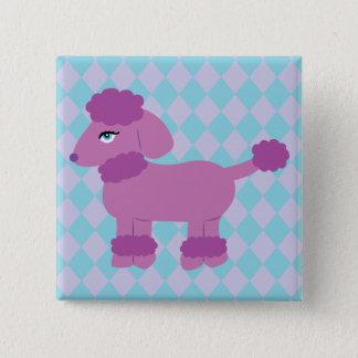 Purple Poodle Pinback Button