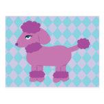 Purple Poodle Postcard