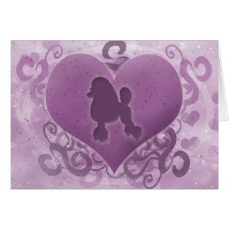 Purple Poodle Valentine's Day Card