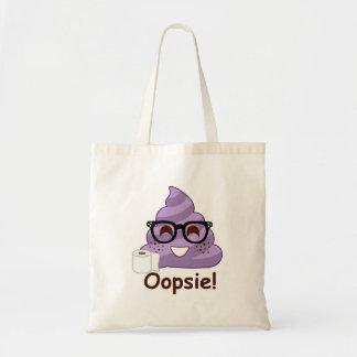 Purple Poop Emoji Oops Tote Bag