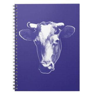 Purple Pop Art Cow Graphic Notebook
