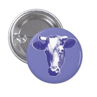 Purple Pop Art Cow Pinback Button