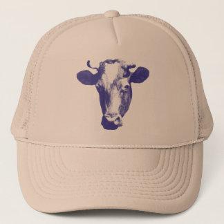 Purple Pop Art Cow Trucker Hat