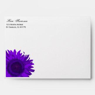Purple Pop Art Sunflower Envelope