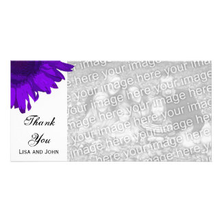 Purple Pop Art Sunflower Thank You Card