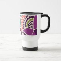 Purple Pop Art Travel Coffee Mug
